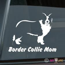 Border Collie Mom Sticker Die Cut Vinyl V2 Sheep Dog Car Decal Wish