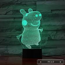 &Pig Peggy George 3D Night Light Cartoon Touch Bedroom LED V | Shopee  Singapore