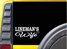 Amazon Com Lineman Wife K350 8 Inch Sticker Line Worker Decal Home Improvement