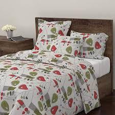 bedding mid century modern orange