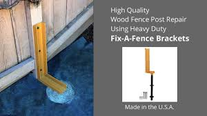 How To Repair A Leaning Wood Fence Youtube