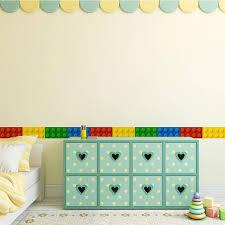 Blocks Wall Sticker For Kids Room Bedroom Border Decoration Wallpaper Self Adhesive Waterproof Removable Diy Kicking Line Mural Wall Stickers Aliexpress