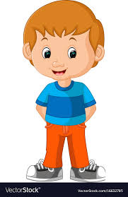 cute boy cartoon royalty free vector