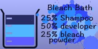 bleach bath hair instructions all