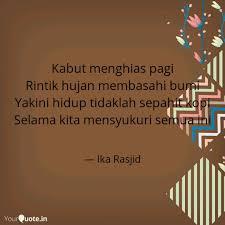 kabut menghias pagi rinti quotes writings by ika rasjid