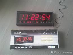 aluminum large digital led wall clock