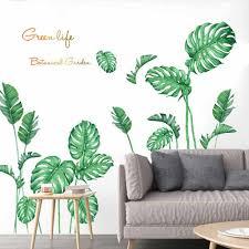 Diy Beach Tropical Palm Leaves Wall Stickers Modern Art Vinyl Decal Wall Mural Tropical Beach Palm Leaves Wall Sticker Art Decal Wall Stickers Aliexpress