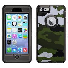 Skin Decal For Otterbox Defender Apple Iphone 6 Plus Case Camouflage Green White Decal Not A Case Walmart Com Walmart Com