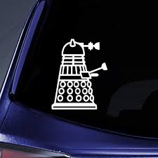 Amazon Com Bargain Max Decals Dalek Side Sticker Decal Notebook Car Laptop 5 White Arts Crafts Sewing