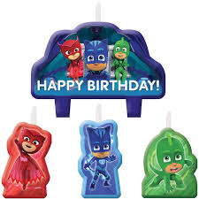 PJ Masks Birthday Candles 4ct | Party City