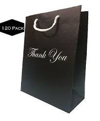 black gift bags with handles bulk large