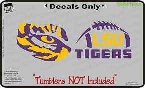Lsu Tigers Set Of 2 For Yeti Tumbler Vinyl Decal Sec Car Truck Cornhole Ozark 12 00 Picclick