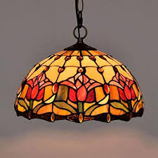 lighting vintage stained glass hanging