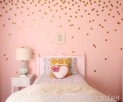 Five Pocket Skinny Jeans Polka Dot Walls Gold Polka Dots Wall Girl Room