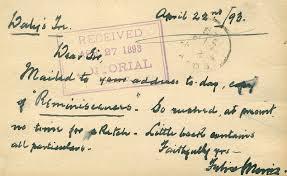 Felix Morris - Autograph Letter Signed 04/22/1893   HistoryForSale Item  304604