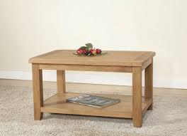 cotswold rustic light oak coffee table