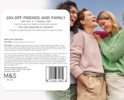 marks and spencer 20 code