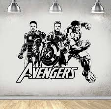 New Arrival Design Avengers Hulk Iron Man Wall Stickers Home Decor Living Room Baby Wall Decals Teens Boys Bedroom Wallpaper Iron Man Wall Sticker Baby Wall Decalsstickers Home Decor Aliexpress