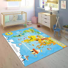 Else Animals Educatinal Earth World Map 3d Print Non Slip Microfiber Children Kids Room Decorative Area Rug Mat Carpet Aliexpress