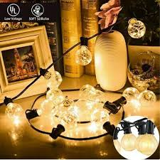 string lights 50 g40 bulbs garden patio