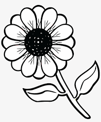free clipart of a daisy flower black