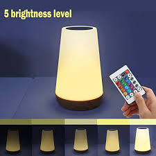 Amazon Com Royfacc Led Night Light Touch Lamp Bedside Table Lamp For Kids Bedroom Rechargeable Dimmable With Remote Control Warm White Light Rgb Color Changing Home Improvement