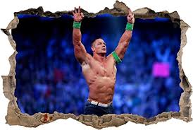 John Cena Smashed Wall 3d Effect Decal R Buy Online In Cambodia At Desertcart