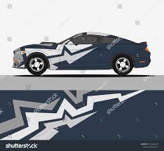 Racing Car Decals Sport Vehicle Vinyl Stock Vector Royalty Free 1370566841