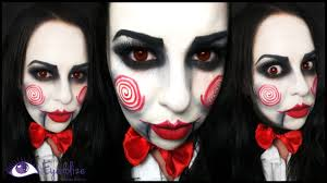 jigsaw from saw makeup tutorial by