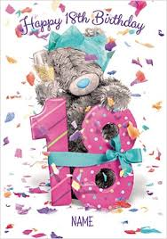 18th birthday cards send