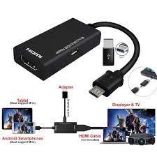 Glorystar Loại C & Micro USB Male To HDMI Adapter Cáp Cho Máy Tính Bảng Tivi  Samsung Galaxy S9 Huawei P20 mate20 Pro Cáp ĐTDĐ