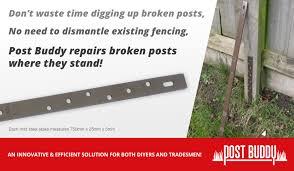 Fence Post Repair Fix Broken Timber Fence Posts Quick Easy Fence Post Repair Diy Fence Fence Post