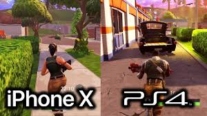 iphone x vs fortnite ps4 gameplay ios