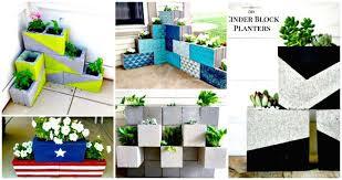 22 diy cinder block planter ideas to