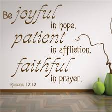 Romans 12 12 Scripture Wall Art Decal Decor Joyful In Hope Prayer