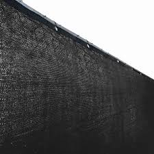Shop Aleko 6 X25 Black Fence Privacy Screen Mesh Fabric With Grommets Overstock 17847759