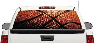 Product Basketball Nba Sport Ball Rear Window Decal Sticker Pick Up Truck Suv Car 3