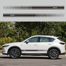 2pcs Car Auto Vinyl Decal Sticker For Mazda Cx5 Cx 5 Car Stickers Side Body Stripes Racing Styling Car Stickers Aliexpress