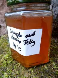 Crabapple and rosehip jelly