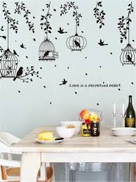 Cages Bird Wall Sticker Wall Decor Stickers Wall Sticker Wall Stickers