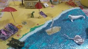 Maqueta d la la playa | Manualidades, Maquetas, Diseños de salas
