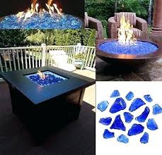 propane fire pits with glass rocks