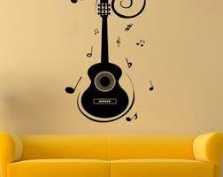 Musical Instrument Vinyl Sticker Guitar Wall Decal Music Stickers Wall Vinyl Decor 10qpi Wall Vinyl Decor Guitar Wall Music Stickers