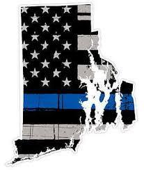 Rhode Island State U40 Cop Thin Blue Line Vinyl Yeti Tumbler Decal Sticker Ebay