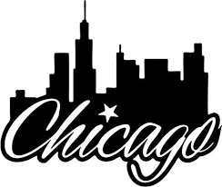 Amazon Com Crazydecals Chicago Location Travel Vinyl Decal Sticker Car Window Bumper Decor 6 Wide Gloss Black Color Automotive