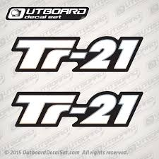 Triton Tr 21 Flat Vinyl Decal Set Replica