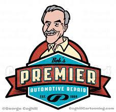 automotive retro cartoon logo design
