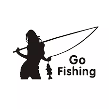 16 8cm 10 9cm Go Fishing Woman Fish Stickers Decals Vinyl S9 0002 Sticker Vinyl Fishing Stickersfish Vinyl Decal Aliexpress
