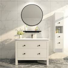 china round mirror mdf bathroom vanity