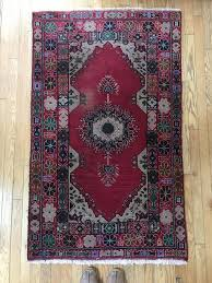 vintage old hand knotted persian rug